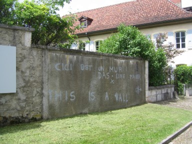 Swiss graffiti is erudite