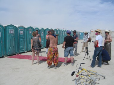 Porta-potty prize patrol