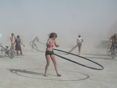 Nothing like a dust storm to put you in the mood to hula.